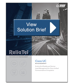 ReliaTel Cisco UC Management Brief